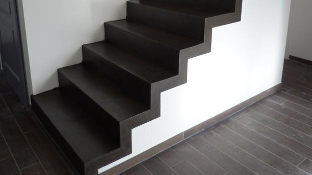 escalier en beton cir interesting color stair steps color design marche en staircase with. Black Bedroom Furniture Sets. Home Design Ideas
